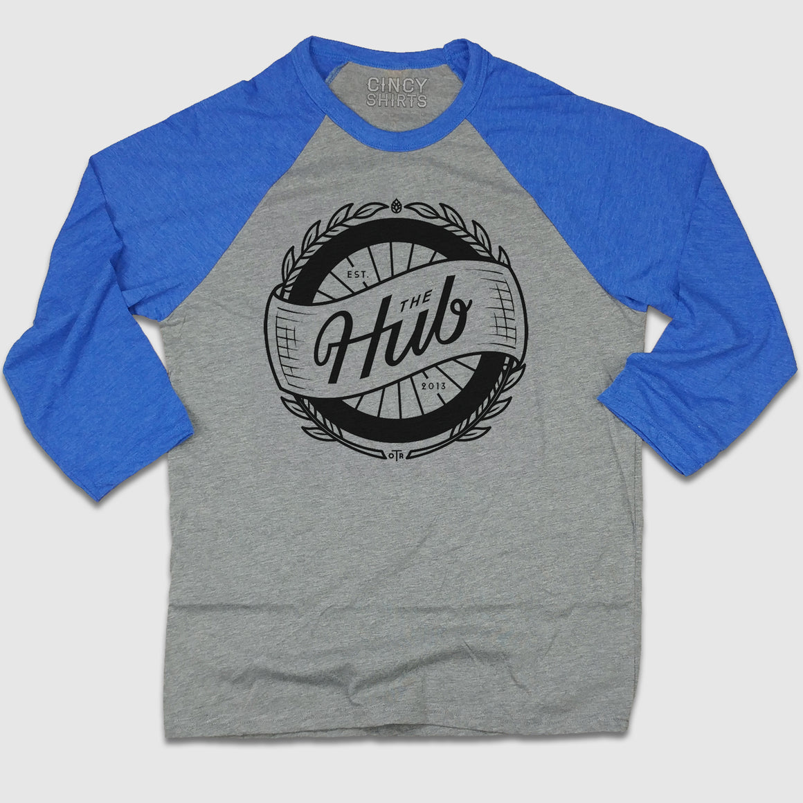 The Hub OTR - Full Chest Logo 3/4 Raglan royal blue