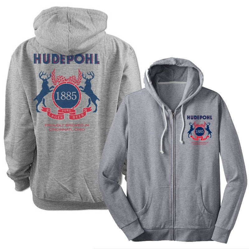 Hudepohl Pure Lager  - Zip up Hoody
