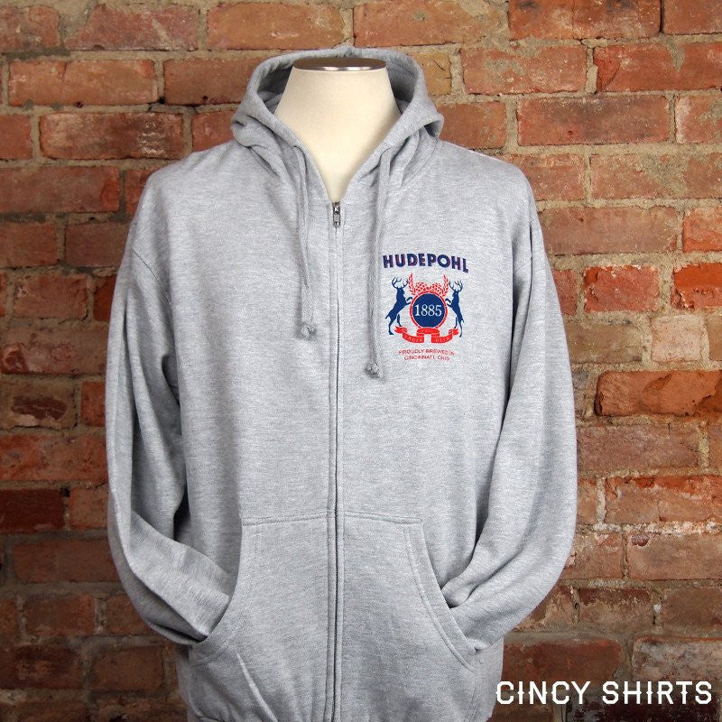 Hudepohl Pure Lager Zip-Up Hoodie - Cincy Shirts