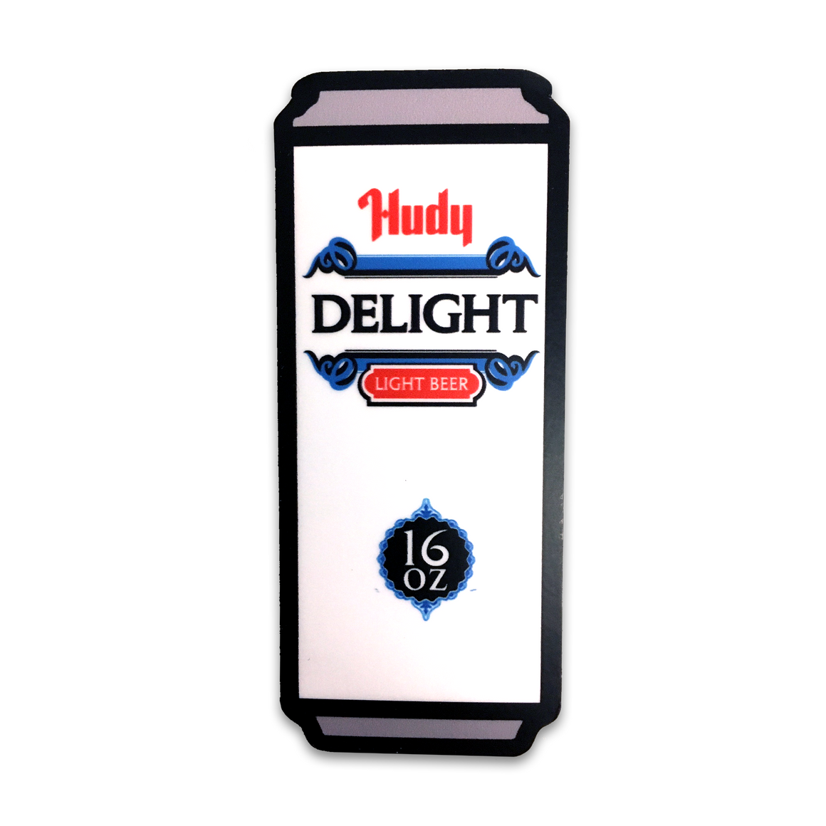Hudy Delight Tall Stack Cans Sticker - Cincy Shirts