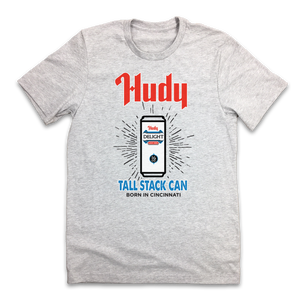 Hudy Tall Stack Cans T-shirt