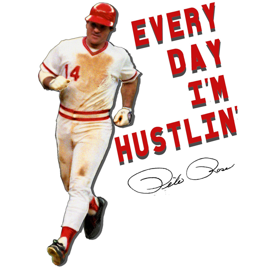 Everyday I'm Hustlin' Baseball Raglan