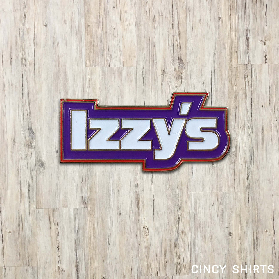 Izzy's Script Logo - Enamel Pin - Cincy Shirts