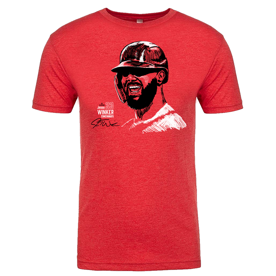 Official Jesse Winker MLBPA Tee - Cincy Shirts