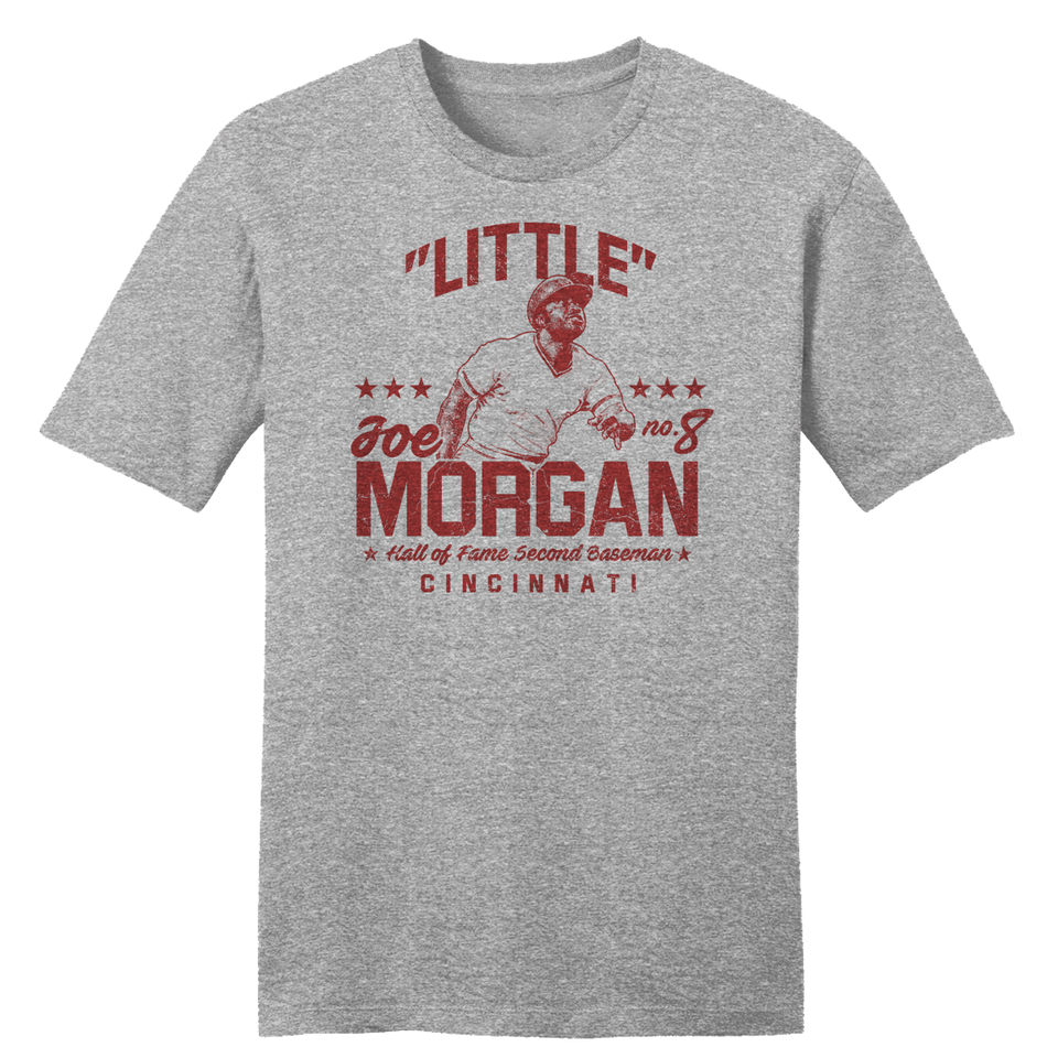 """Little"" Joe Morgan - Hall of Fame Second Baseman - Cincy Shirts"