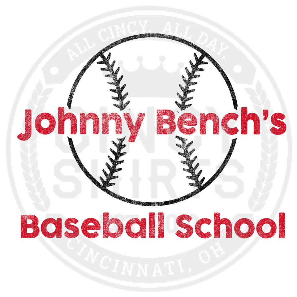 Johnny Bench's Baseball School Raglan - Cincy Shirts