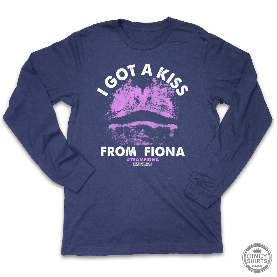 I Got A Kiss From Fiona - Adult Long Sleeve Tee - Cincy Shirts