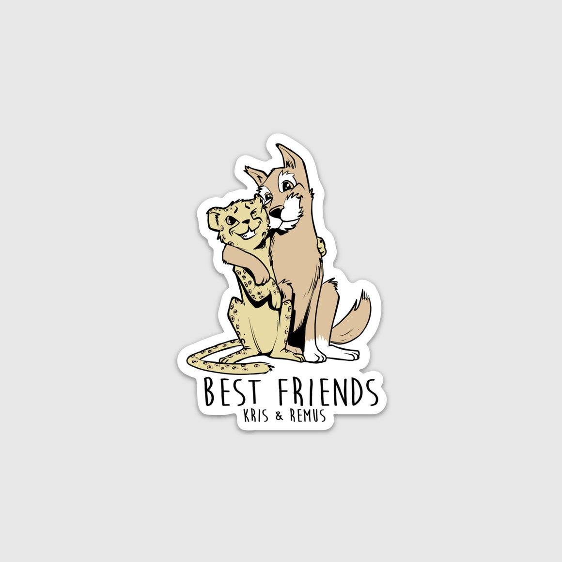 Kris & Remus Best Friends Sticker