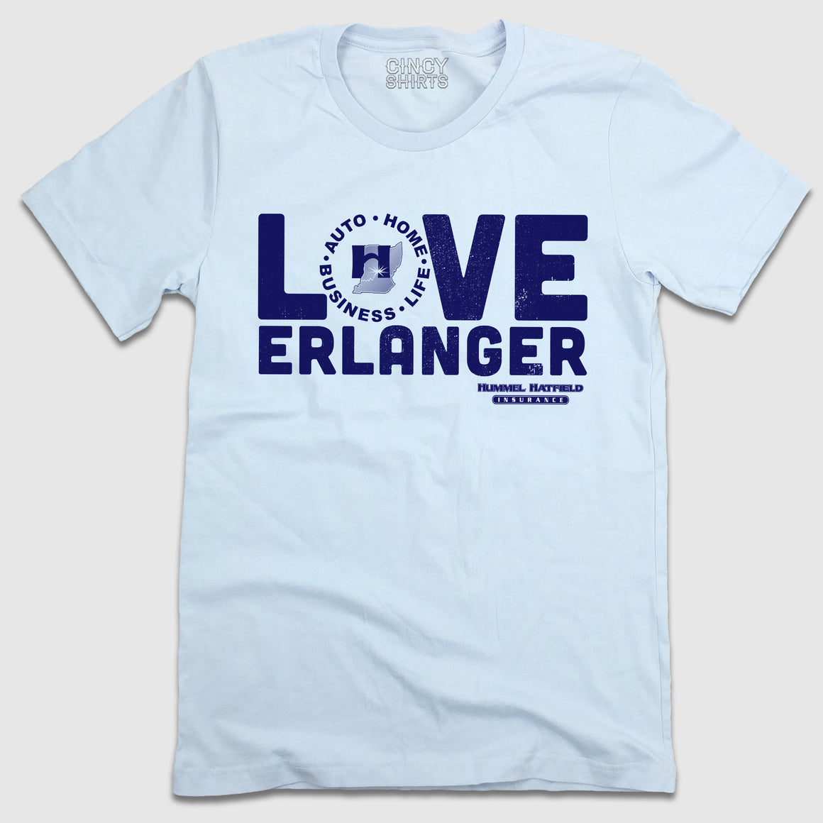 Love Erlanger - Hummel Hatfield Insurance T-shirt