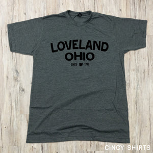 Loveland Ohio Curved Type