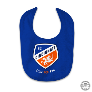 "Official FC Cincinnati ""Little FCC Fan"" Baby Bib - Cincy Shirts"
