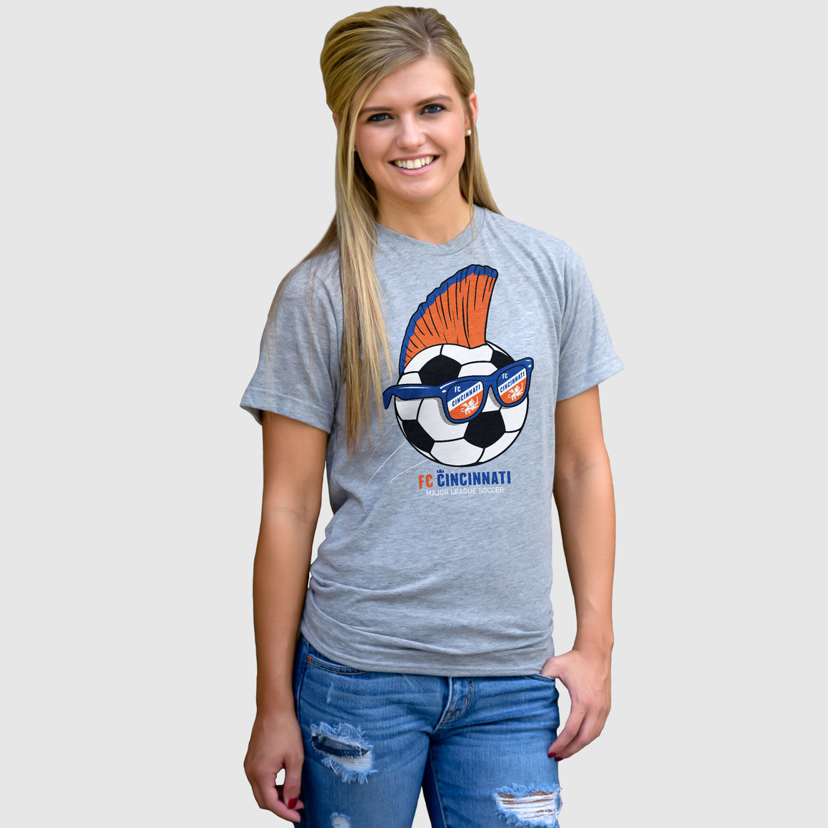 FC Cincinnati Mohawk Soccer Ball - Cincy Shirts