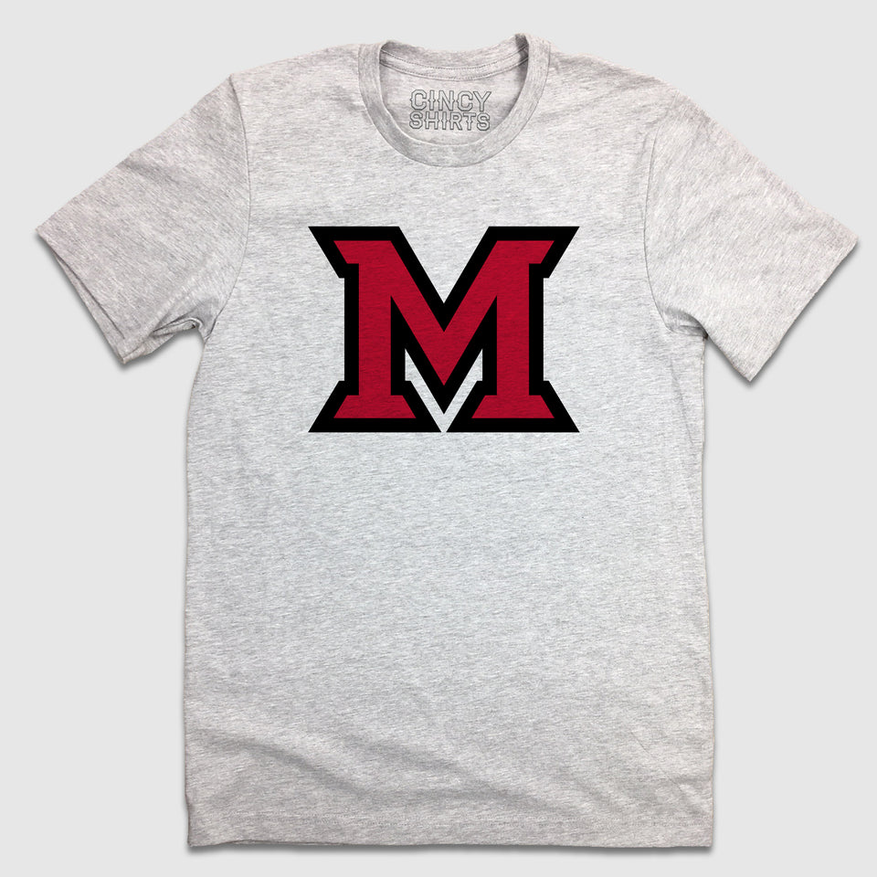 """M"" Miami Logo - Cincy Shirts"