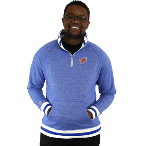 FC Cincinnati 1/4 Zip Fleece Pullover - Peppered Royal
