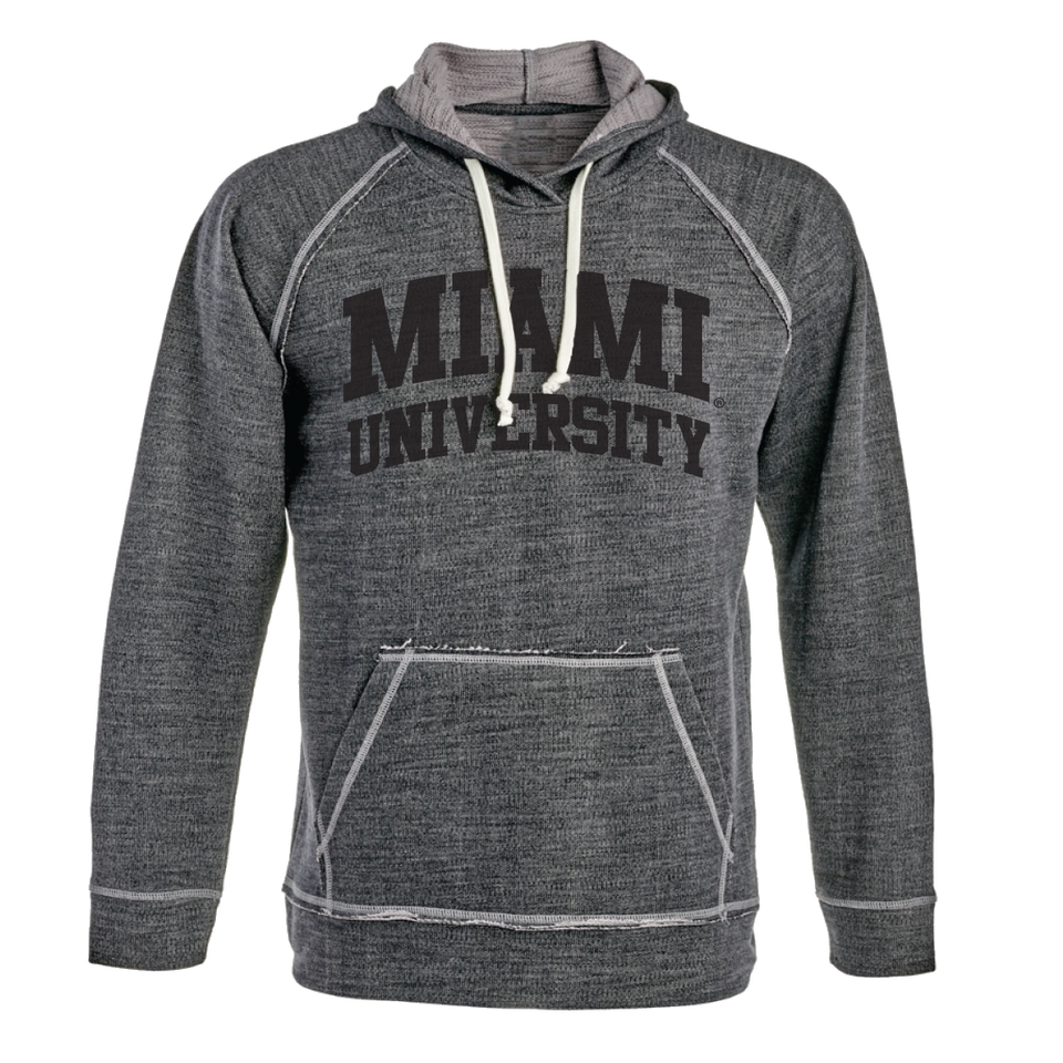 Miami University NCAA Shore French Terry Lapover Hoodie - Cincy Shirts