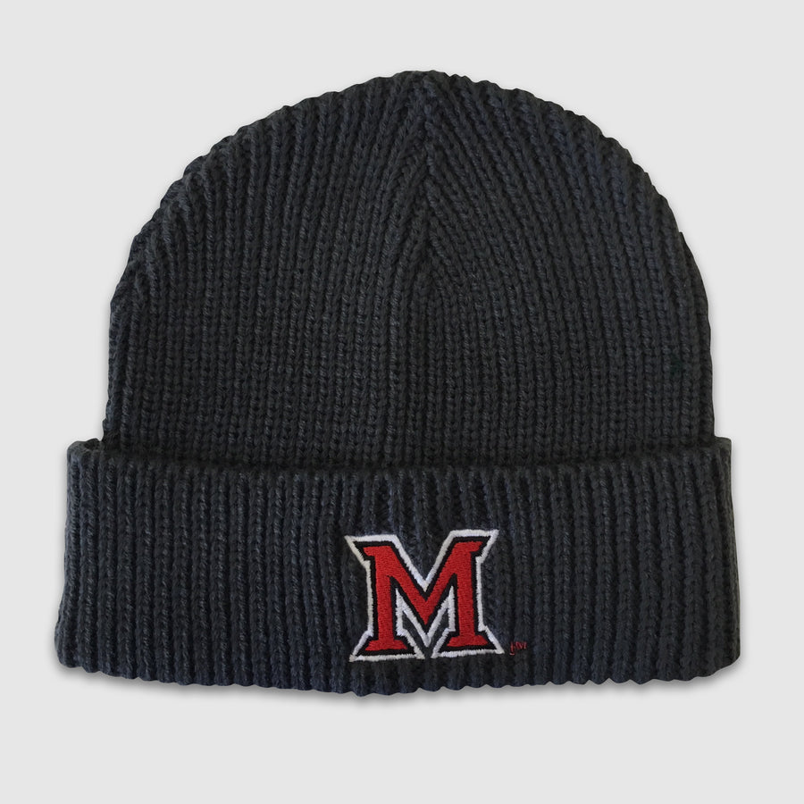 "Miami University ""M"" Charcoal Knit Beanie - Cincy Shirts"