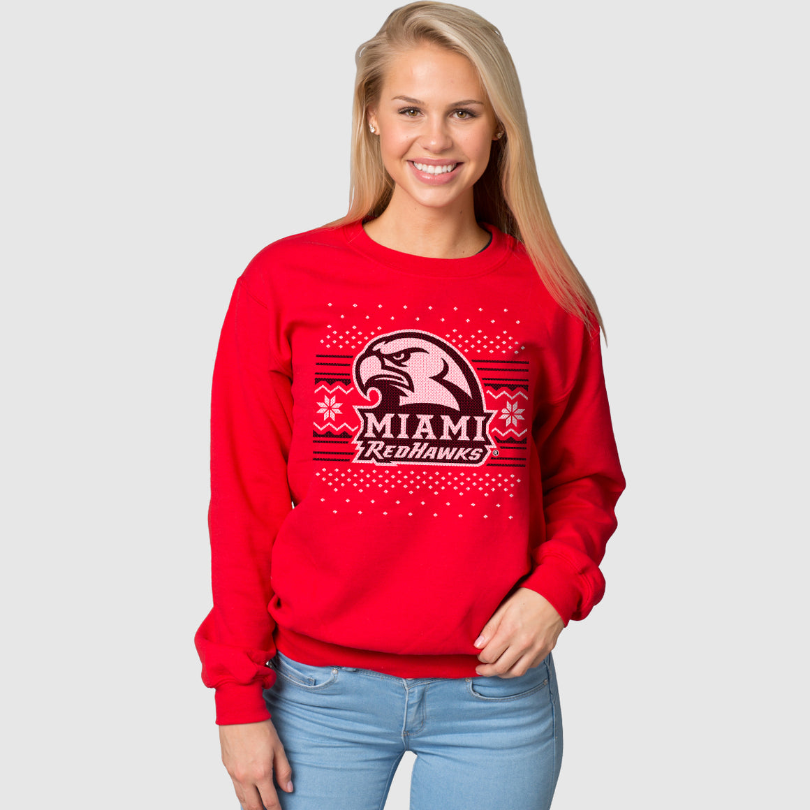Miami Redhawks Ugly Christmas Sweatshirt
