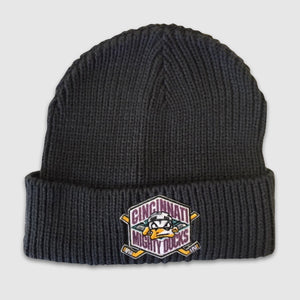 Mighty Ducks Charcoal Knit Beanie