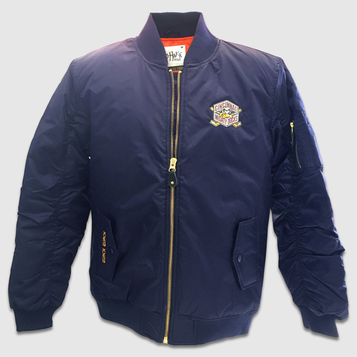 Mighty Ducks Zip-Up Bomber Jacket - Cincy Shirts