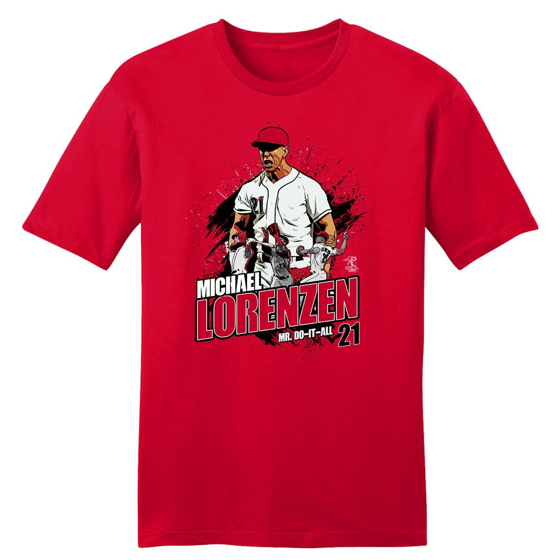 Official Michael Lorenzen MLBPA Tee - Cincy Shirts