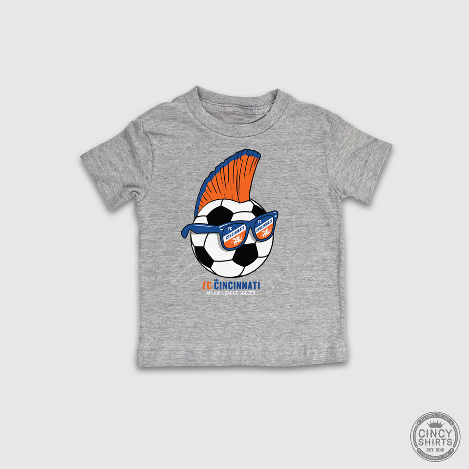 FC Cincinnati Mohawk Soccer Ball - Youth Sizes - Cincy Shirts