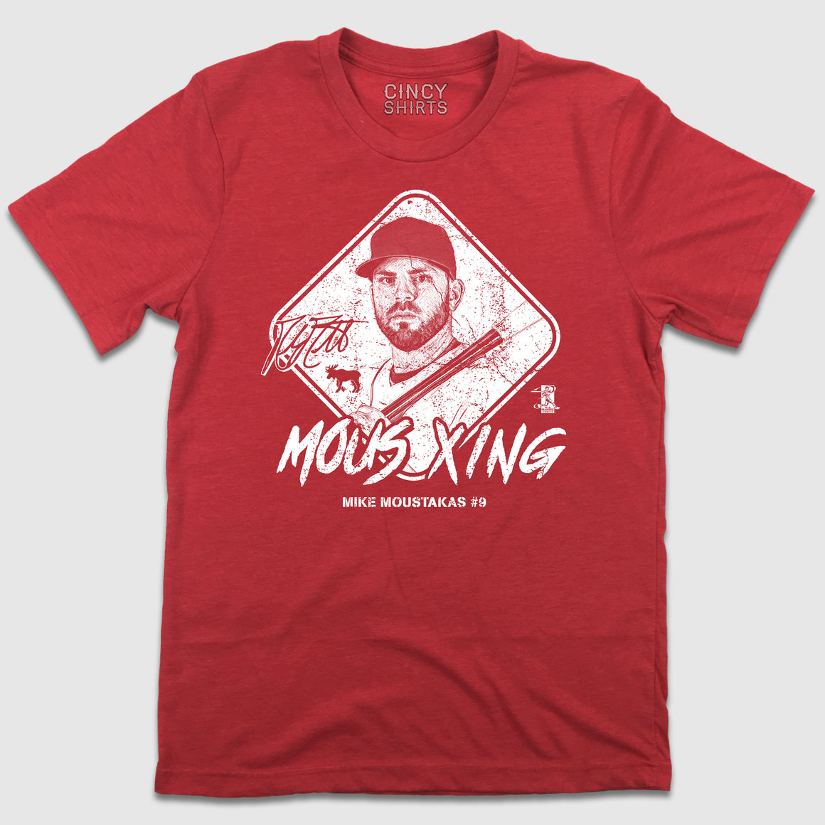 Mous X-ing - Official Mike Moustakas MLBPA T-shirt