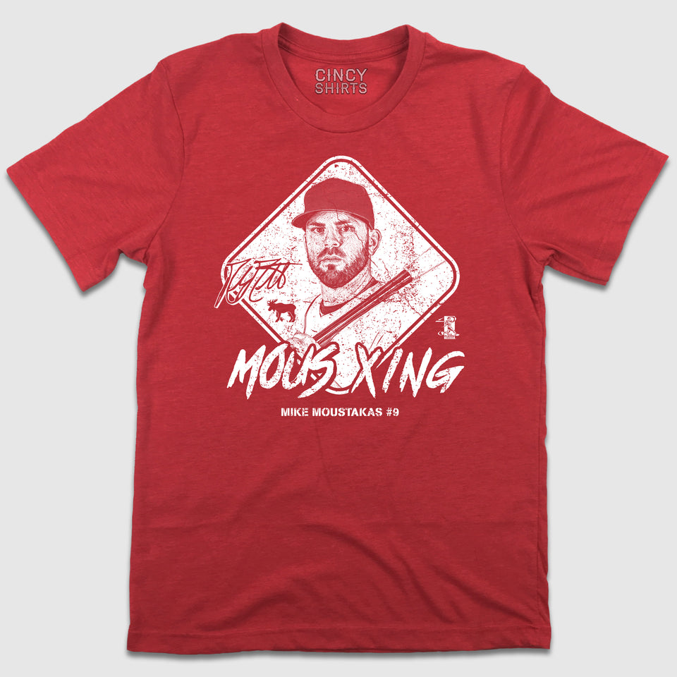 Mous X-ing - Official Mike Moustakas MLBPA Tee - Cincy Shirts