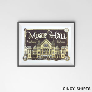 Music Hall - Limited Edition Print - Cincy Shirts