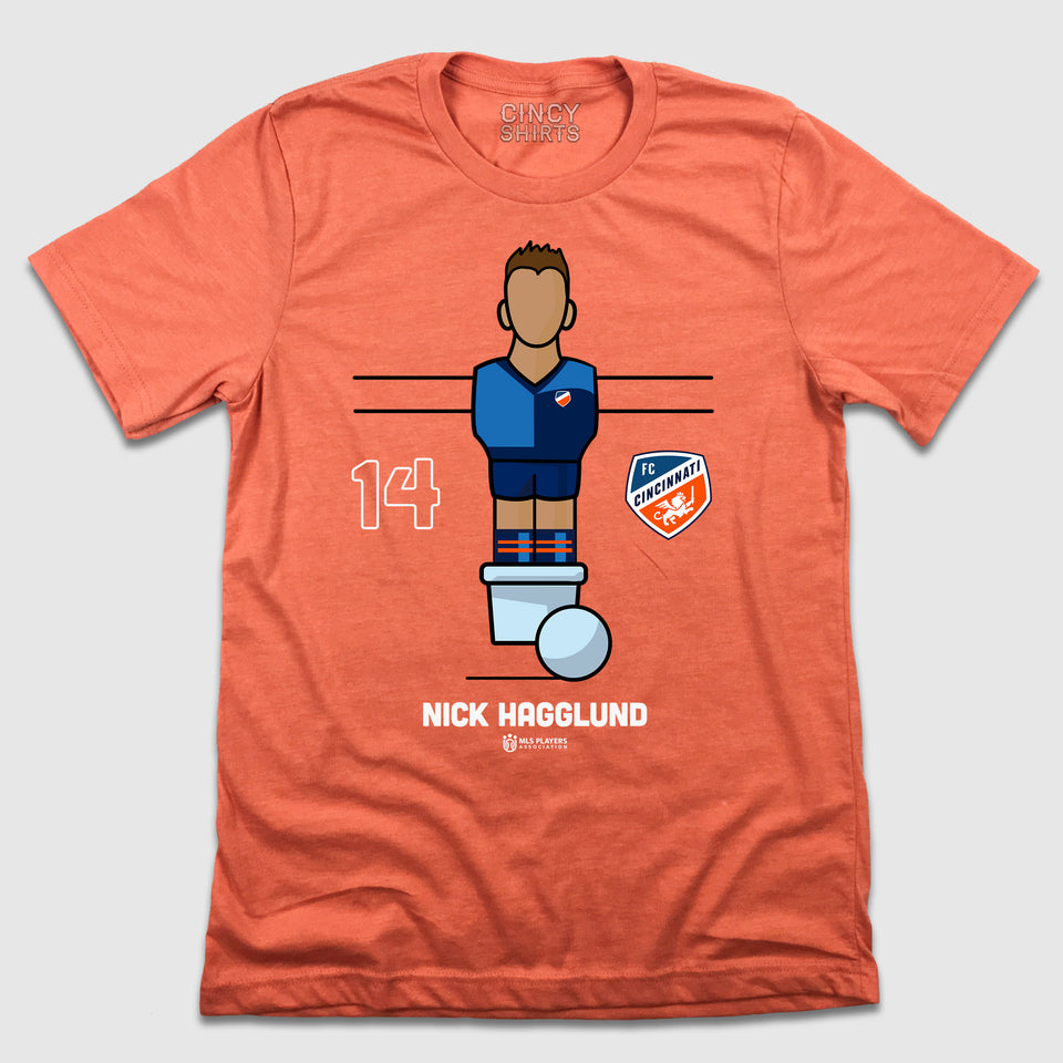 Official Nick Hagglund Foosball Player Tee - Cincy Shirts