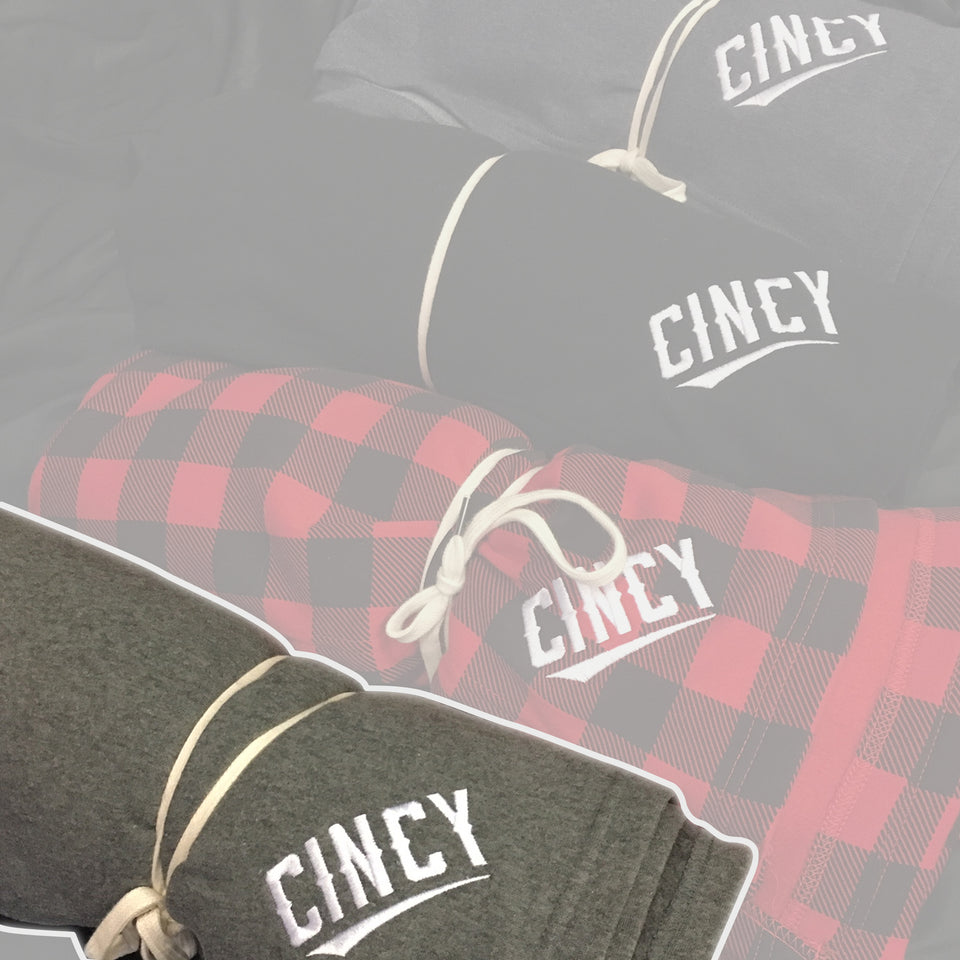 """CINCY"" Embroidered Blanket - Cincy Shirts"