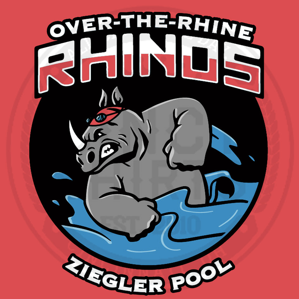 Over-The-Rhine Rhinos - Ziegler Park Swim Team - Cincy Shirts