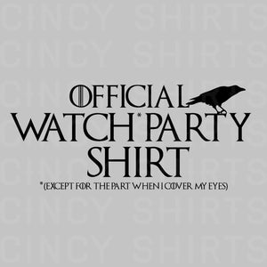 GoT Official Watch Party Tee Image