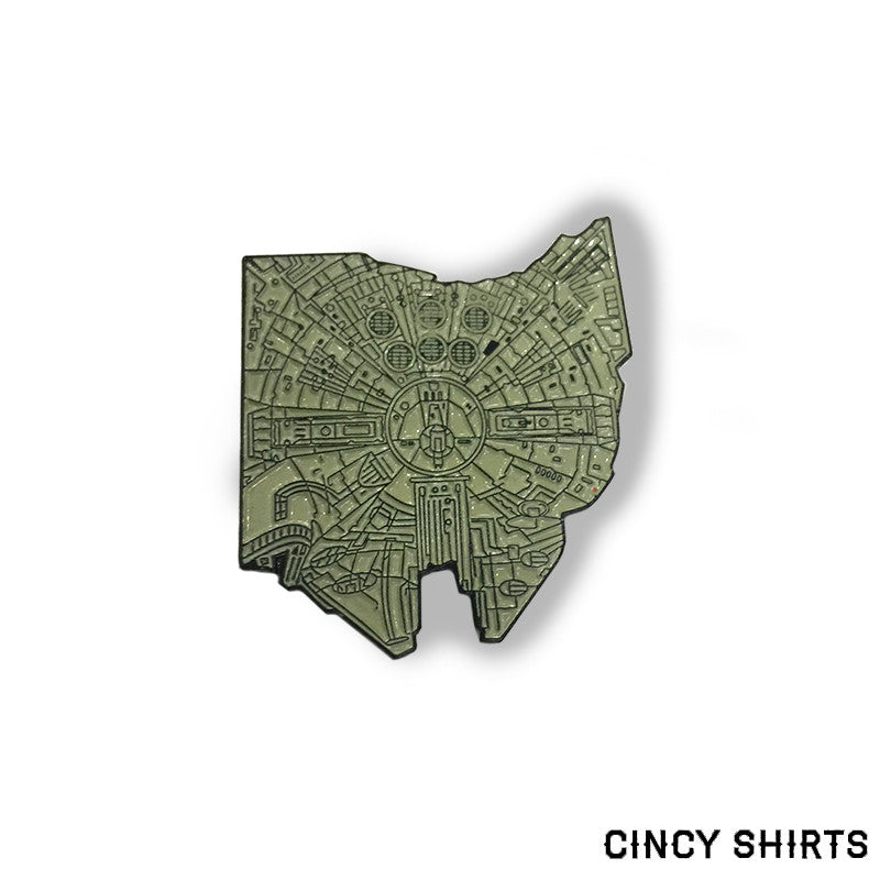 Ohio Falcon Enamel Pin