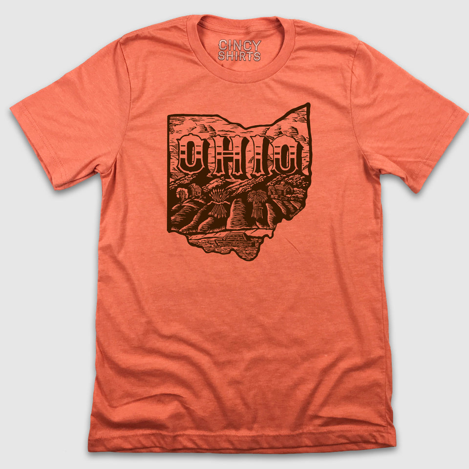 Ohio Wheat Field Crest - Billiter Studio's Design - Cincy Shirts