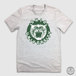 Ohio University Vintage Bobcat Logo - Cincy Shirts