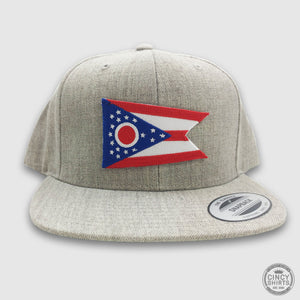 Ohio Flag Snapback Hat