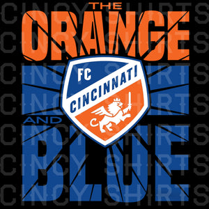 Orange and Blue Shatter - MLS FC Cincinnati - Youth Sizes