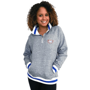 FC Cincinnati 1/4 Zip Fleece Pullover - Gray Pepper