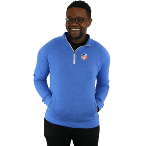FC Cincinnati 1/4 Zip Royal Fleece Pullover - Shield Logo
