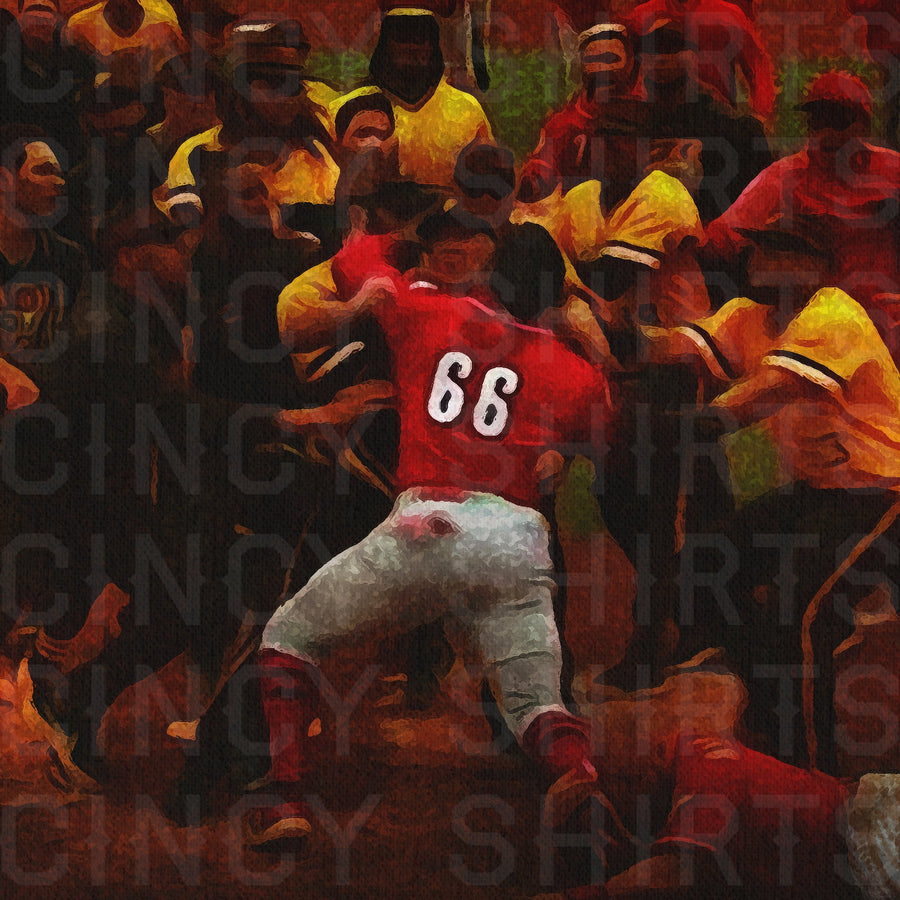 El Guerrero Rojo - The Red Warrior - 11 x 17 Digital Print - Cincy Shirts