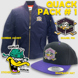 Quack Pack #1 - Mighty Ducks Bomber Jacket & Accessories Gift Pack
