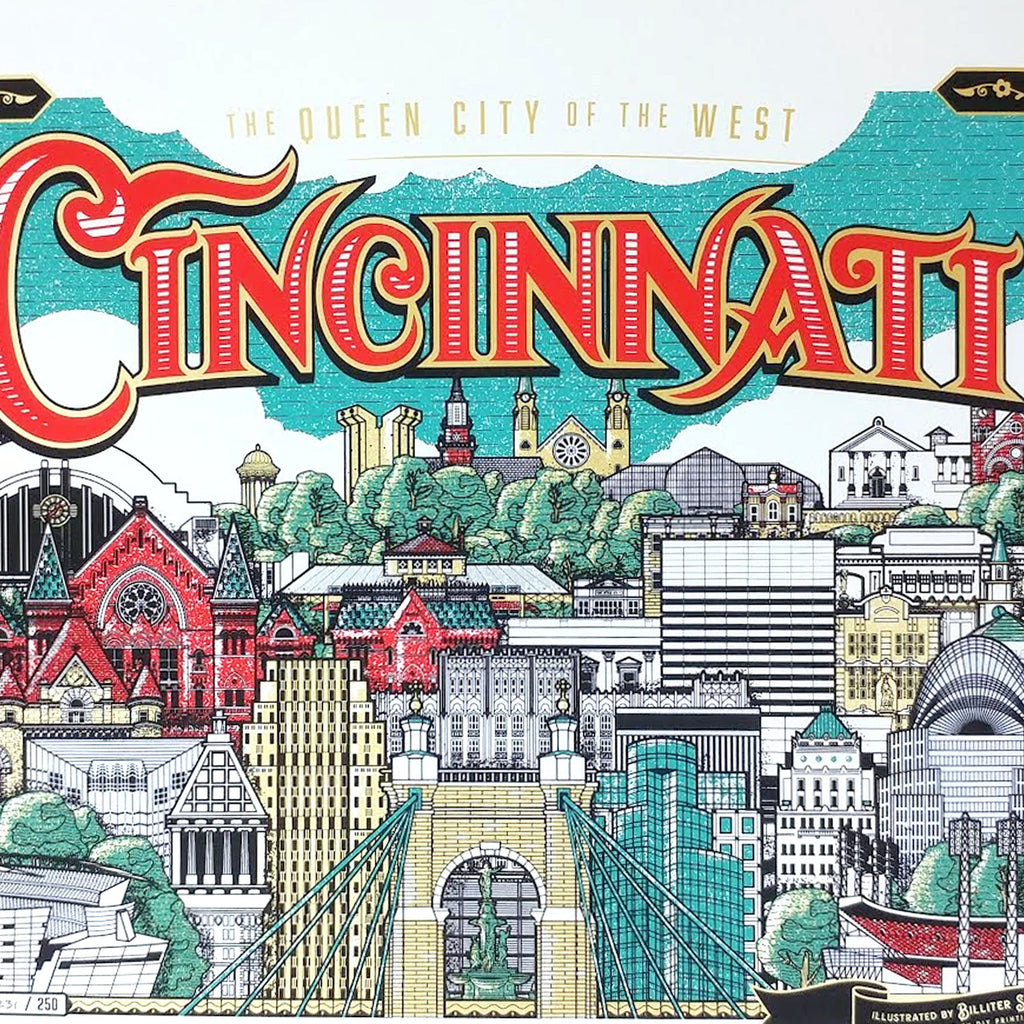 Cincinnati The Queen City of The West - Limited Edition Print