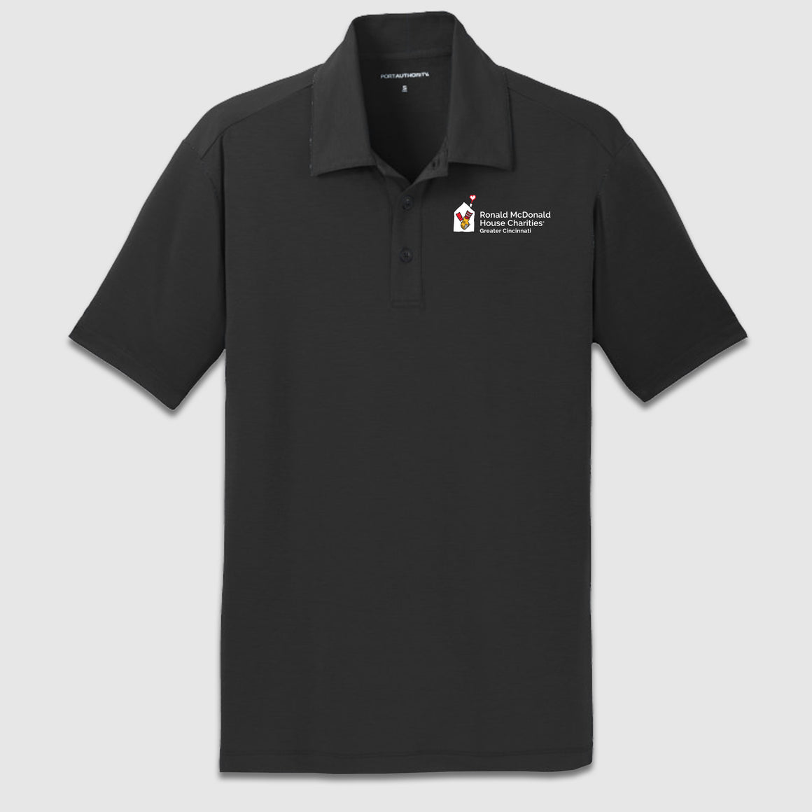 Port Authority Cotton Touch Performance Polo Ronald McDonald House Charity Chest Logo - Cincy Shirts