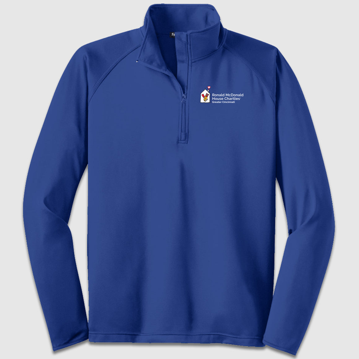 Sport-Tek Sport-Wick Stretch 1/2-Zip Pullover Ronald McDonald House Charity - Cincy Shirts