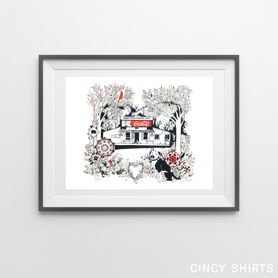 Rabbit Hash General Store - Art Print by Robyn Roth - Cincy Shirts