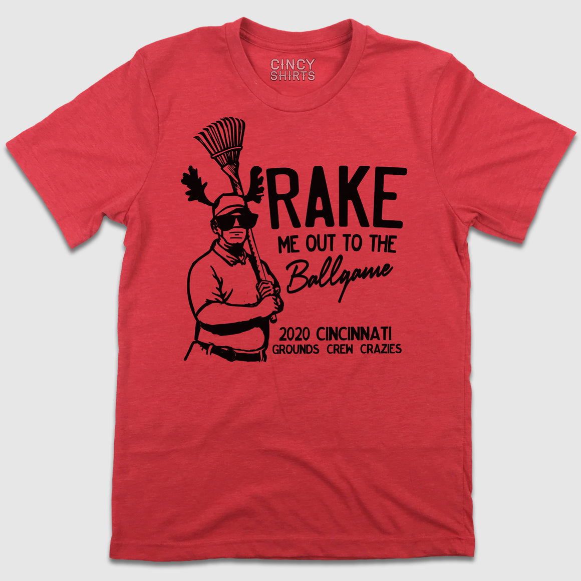 Rake Me Out To The Ball Game Grounds Crew T-shirt