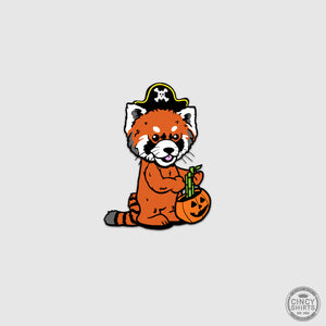 Red Panda HallZOOween Sticker - Cincy Shirts