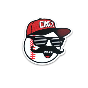 Mr. Red Shades Sticker - Cincy Shirts