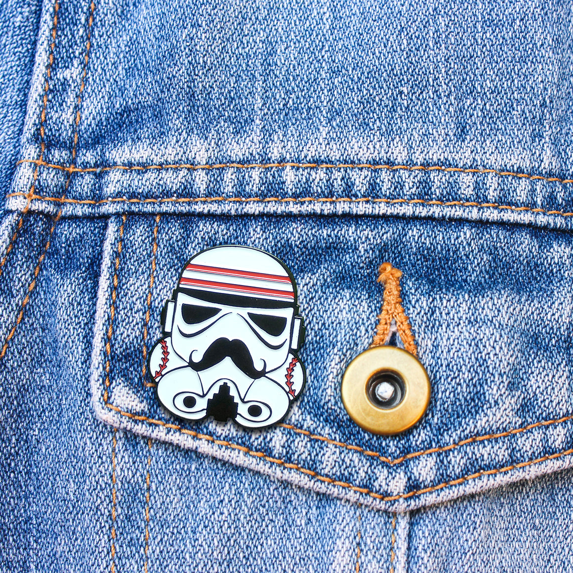 Trooper Redlegs Enamel Pin