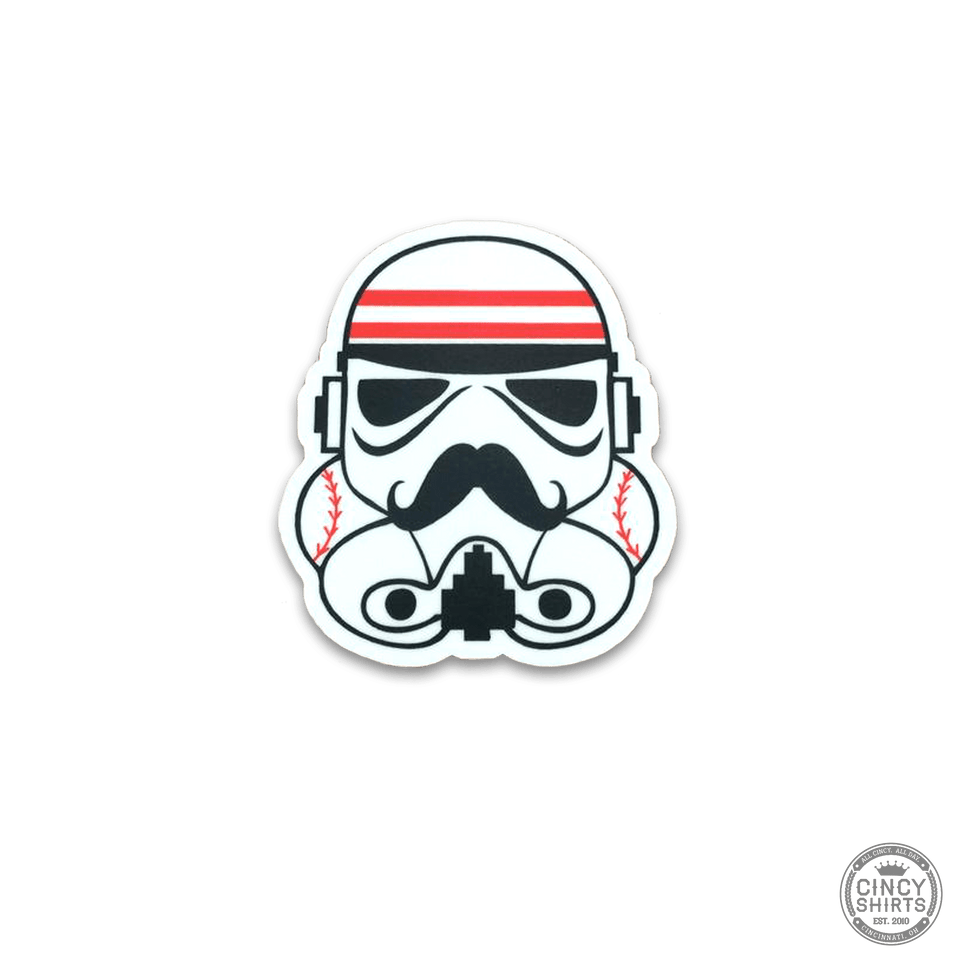 Cincy Baseball Trooper Sticker - Cincy Shirts